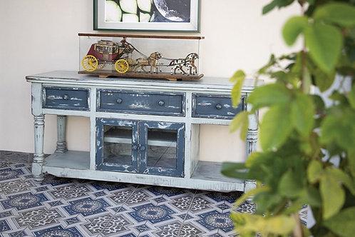Aruba Sky Blue Two-Tone TV / Sofa Table