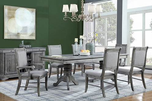 Darcy Weathered Ash 7-Piece Dining Set