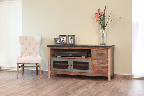 """Antique Solid Pine 62"""" TV Stand"""