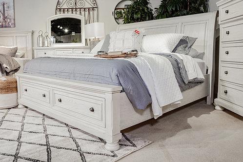 Robbinsdale Antique White Storage Bed