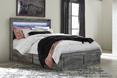 Baystorm Gray Queen Storage Bed