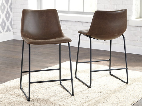 Centair Brown Upholstered Barstools