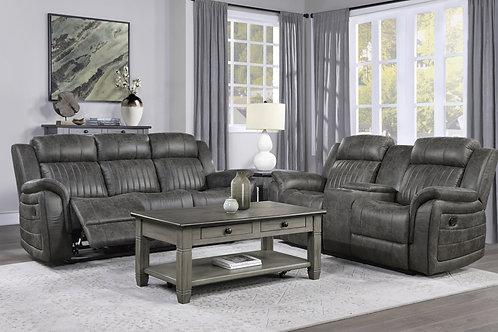 Centeroak Brownish-Gray Double Reclining Sofa OR Loveseat