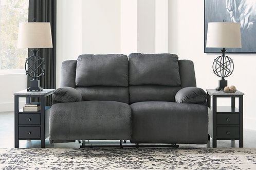 Clonmel Charcoal Reclining Loveseat