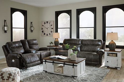 Grearview Charcoal Power Reclining Sofa & Loveseat