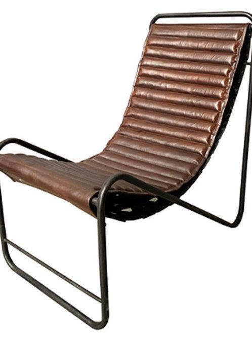 Feliciana Mahogany Brown/Black Accent Chair
