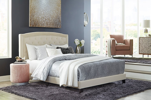 Adelloni Cream Queen Upholstered Bed