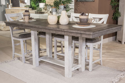 Brewgan Two-Tone Counter Height Dining Table