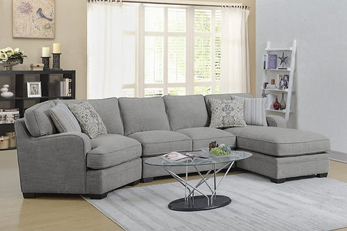Analiese Light Grey 3-PC RSF Sectional