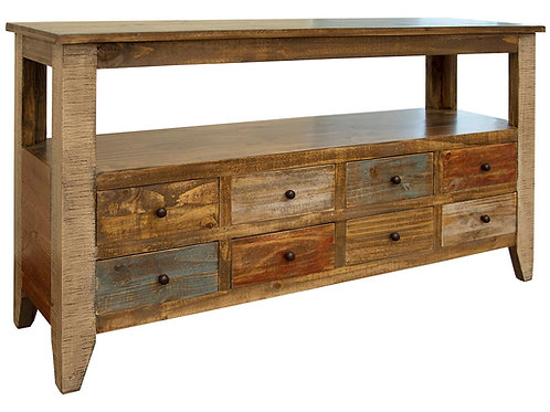 Antique Multicolor Sofa Table