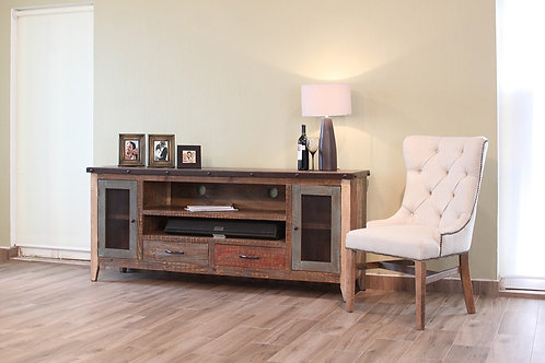 """Antique Solid Pine 76"""" TV Stand"""