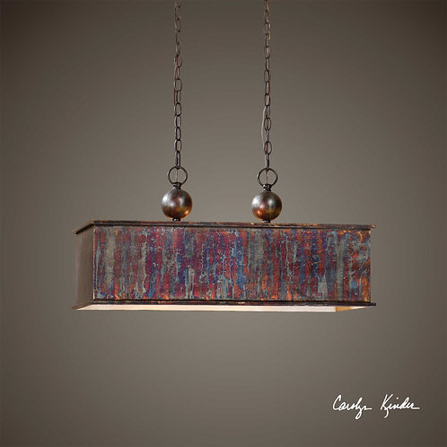 Albiano Rectangle Two Light Pendent