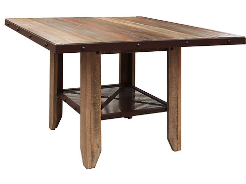 """Antique Multicolor 52"""" Dining Table"""