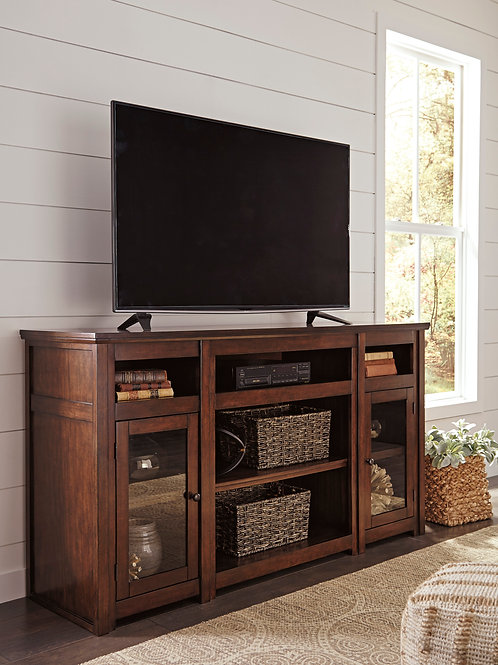 "Harpan Reddish Brown 72"" TV Stand"