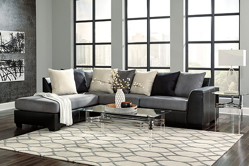 Jacurso Charcoal 2-PC LSF Sectional