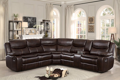 Bastrap 3PC Sectional with Right Console