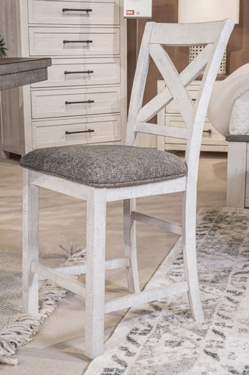 Brewgan Two-Tone Counter Height Barstool