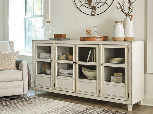 Deanford White Antique Accent Cabinet