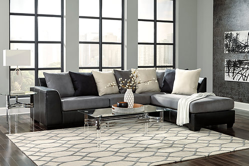Jacurso Charcoal 2-PC RSF Sectional
