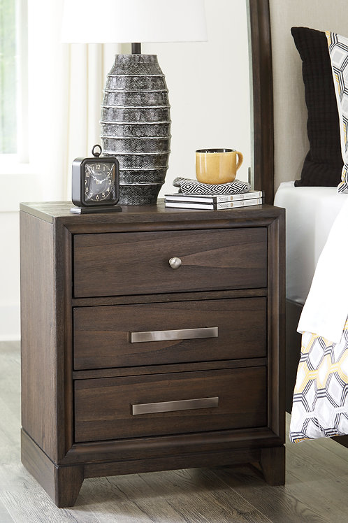 Brueban Three Drawer Nightstand