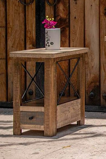 Andaluz Brown/Light Brown Antique Chairside Table