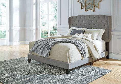 Vintasso Grey Upholstered Queen Bed