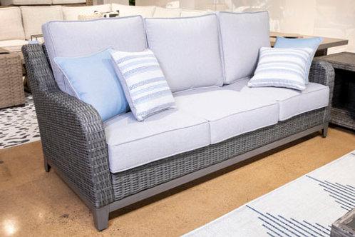 Elite Park Gray Outdoor Sofa with Cushion