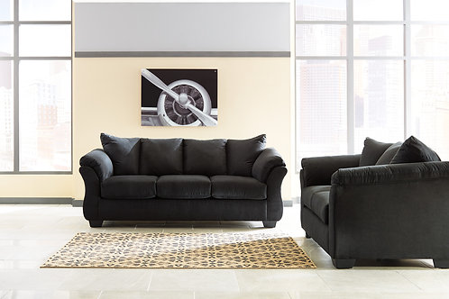 Darcy Black Sofa OR Loveseat