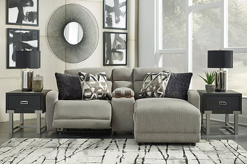 Collyville Stone 3-PC Sectional w/ Console