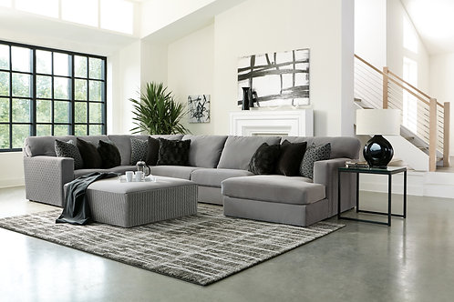 Carlsbad Charcoal 3-PC Sectional