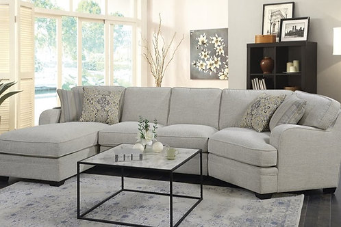 Analiese Light Grey 3-PC LSF Sectional