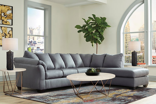 Darcy Steel 2-PC Sectional
