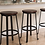 Thumbnail: Set of 2 Challiman Rustic Brown Barstools