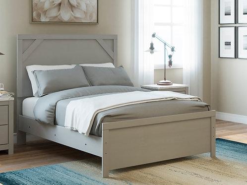 Cottonburg Light White/Grey Full Panel Bed