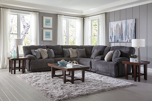 Burbank Smoke 6-PC Reclining Sectional