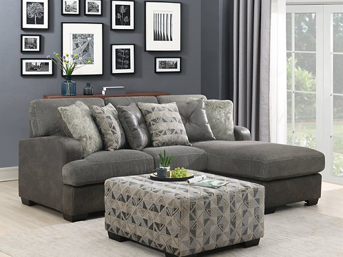 Berlin RSF Grey Chaise Sectional