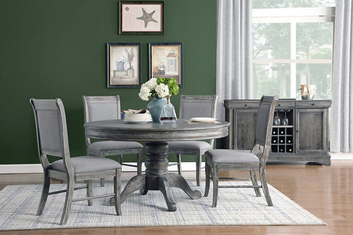 Darcy Weathered Ash 5-Piece Dining Set