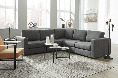 Candela Charcoal 5-PC Sectional