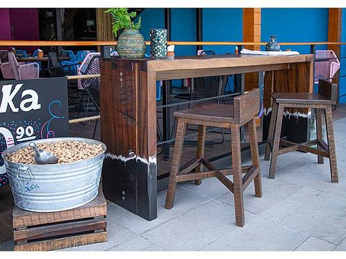 Parota Natural Two-Tone Sofa Table