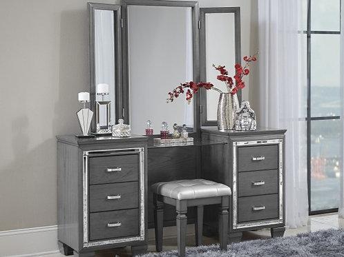 Allura Gray Vanity w/ Mirror