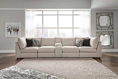 Kellway Bisque Party Sofa w/ Console
