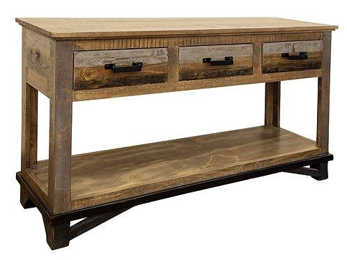 Loft Two-Tone Gray/Brown Sofa Table