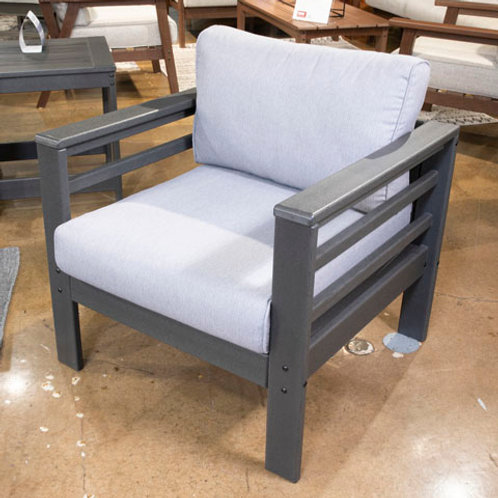 Amora Charcoal Gray Outdoor Lounge Chairs