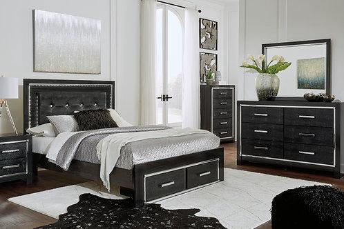 Kaydell LED Platform Storage Bedroom Set