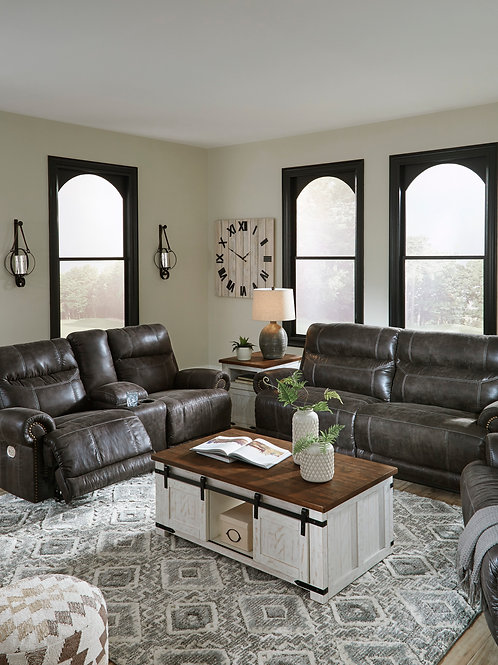 Grearview Charcoal Power Reclining Sofa OR Loveseat