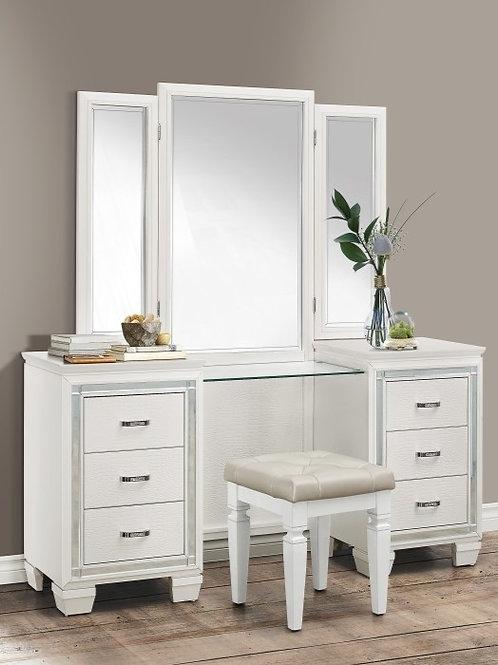Allura White Vanity w/ Mirror