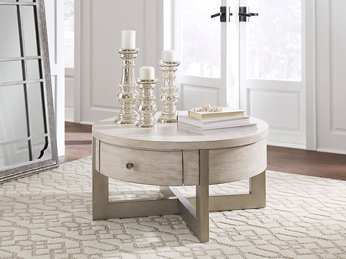 Ulander Whitewash Lift-Top Cocktail Table