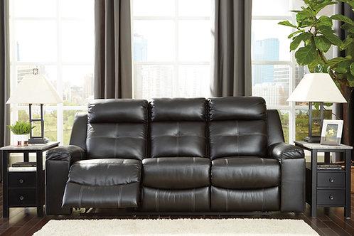 Kempten Black Reclining Sofa