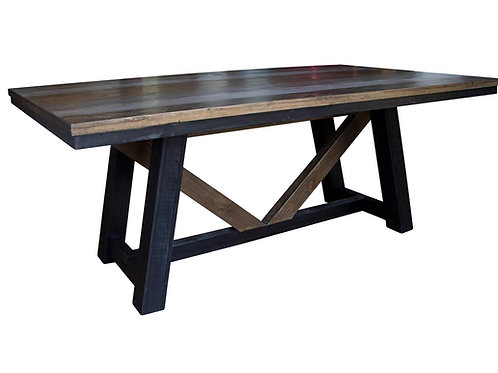 Antique Gray Dining Room Table