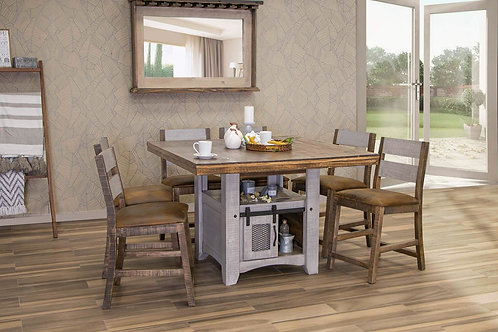 Pueblo Light Gray/Brown 4-PC Counter Height Dining Set